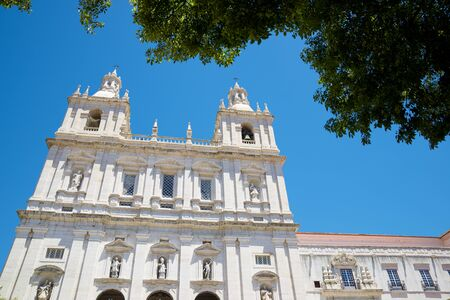 View of S. Vicente de Fora Monastery in Lisbon, Portugal.