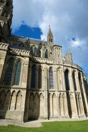 Cathedral of Our Lady of Bayeux, Calvados Department in Normandy, France.