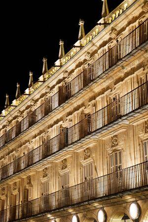 Main Square in Salamanca, Castilla Leon in Spain.