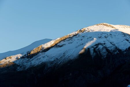 Snowy Peak, Tendenera Mountains, in Tena Valley, Panticosa, Aragon, Huesca, Spain.
