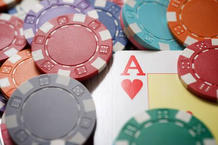 Ace card and casino chips.
