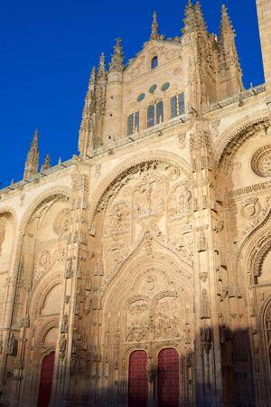 Exterior view of Salamanca Cathedral, Castilla Leon in Spain. Editorial