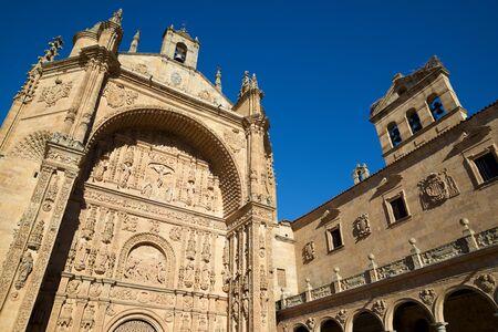 Exterior view of San Esteban Church in Salamanca, Castilla Leon in Spain.