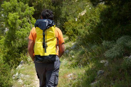 Randonnées dans les montagnes de Guara, province de Huesca, Aragon, Espagne. Banque d'images