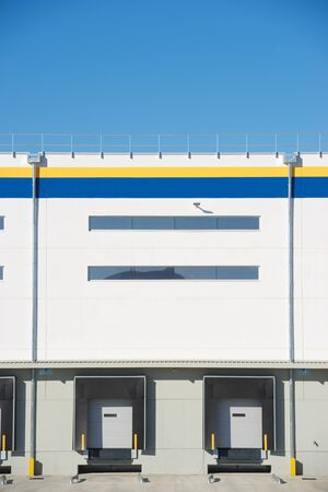 View of the cargo area of a logistics company in Zaragoza, Spain. Stock Photo