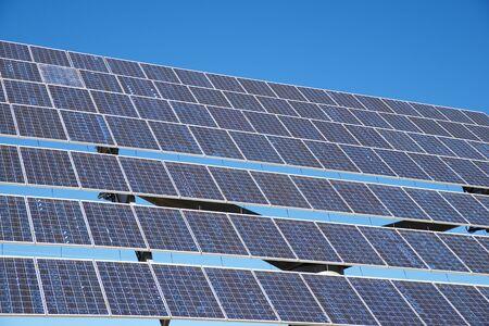 Huge solar panel for electric production in Zaragoza Province, Aragon, Spain.
