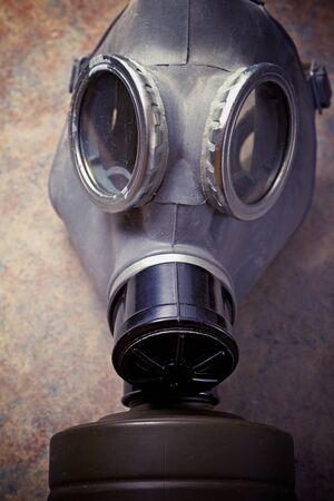 Retro gas mask close up