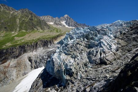 Argentiere Glacier view, Chamonix in Mont Blanc Massif, Alps in France.