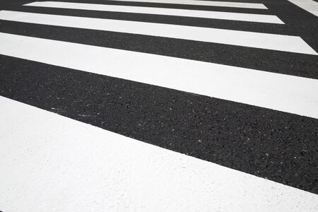 Zebra crossing without anyone crossing it. Imagens