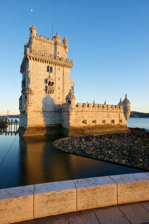 Belem Tower on Tagus river, Lisbon in Portugal.