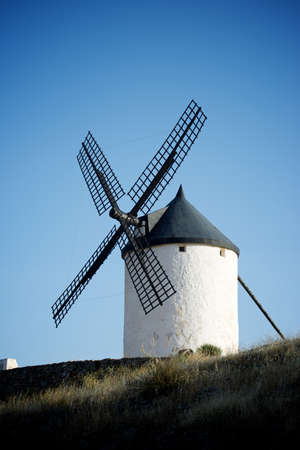 Windmill in Consuegra, Toledo Province, Castilla La Mancha, Spain. 版權商用圖片