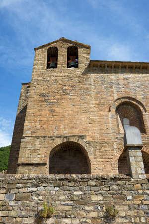 Romanesque monastery of Saint Peter in Siresa, Hecho Valley, Pyrenees.