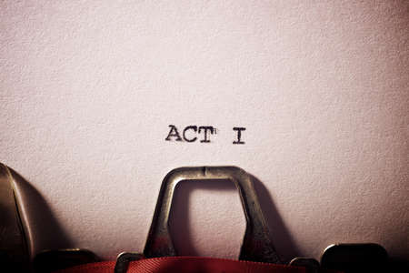 Act I text written on a paper.