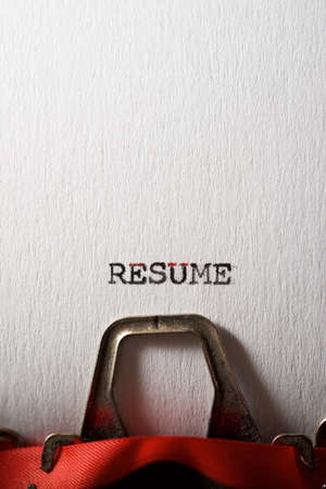 Summarize word written with a typewriter.