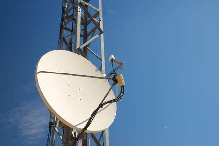 Telecommunications tower in Zaragoza Province, Aragon in Spain