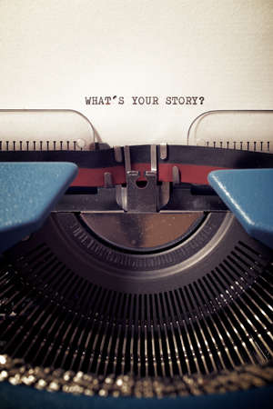 What`s your story question written with a typewriter.