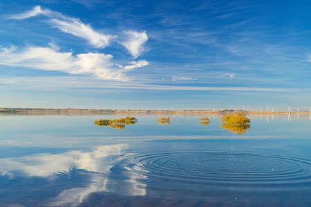 Loteta dam in Zaragoza Province, Aragon in Spain.