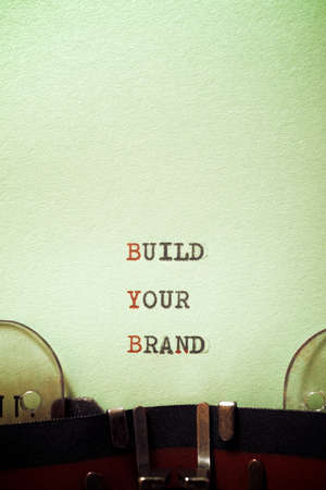 Build your brand phrase written with a typewriter.