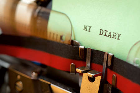 My diary phrase written with a typewriter.