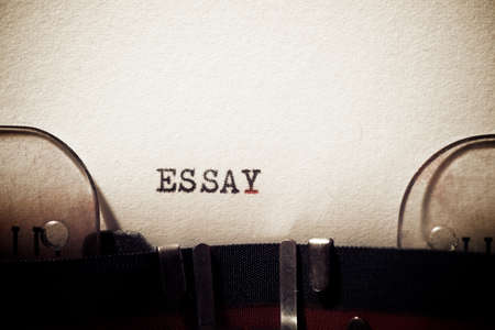 Essay word written with a typewriter. 스톡 콘텐츠 - 160675236