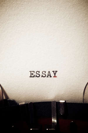 Essay word written with a typewriter. 스톡 콘텐츠 - 160675253
