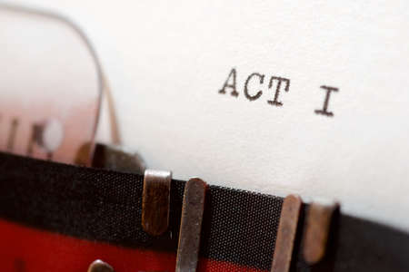 Act I text written with a typewriter. Imagens