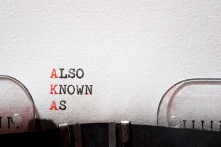 Also known as phrase written with a typewriter.