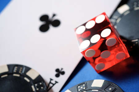 Ace card, says and casino chips.