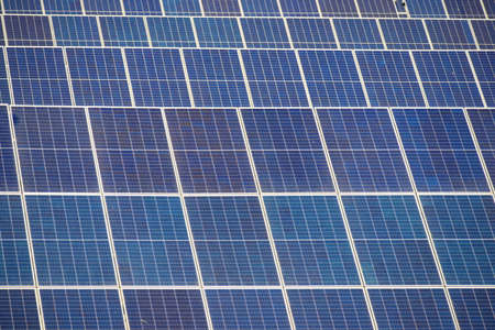 Photovoltaic panels for renewable electric production, Zaragoza province, Aragon in Spain.