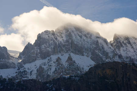 Peaks in the Pyrenees, Hecho Valley, Huesca Province, Aragon in Spain.