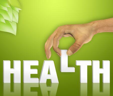 salud y deporte: Concepto de salud palabra