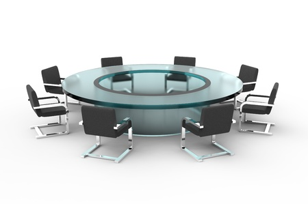 Round table and chairs isolated on white background Stock Photo - 18862195