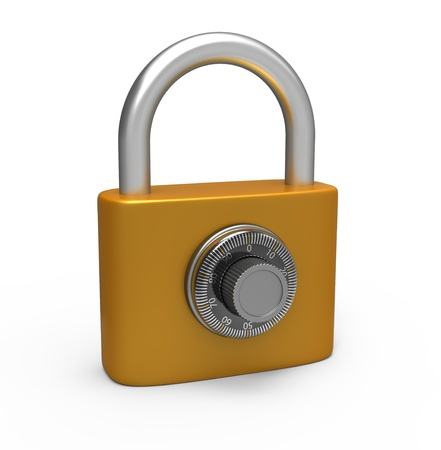 inet: Code padlock isolated