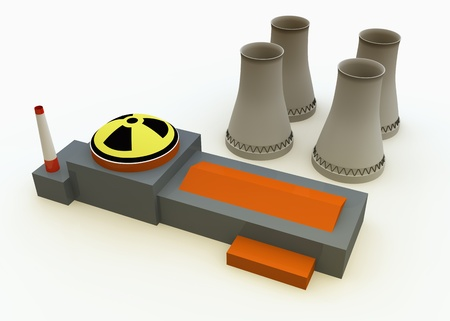 Nuclear power plant Stock Photo - 18862235