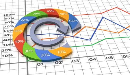 Process charts concept  photo