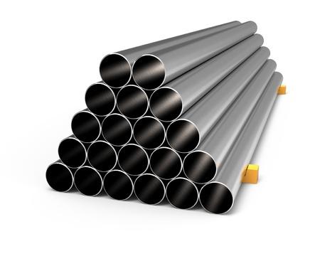 finished: Metal tubes  Stock Photo