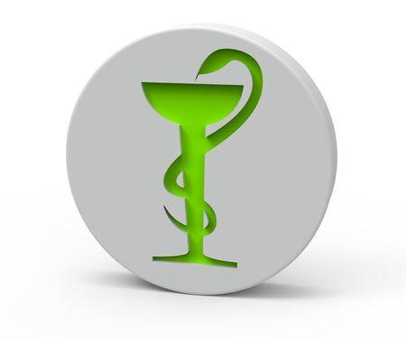 Pill with pharmacy symbol  photo