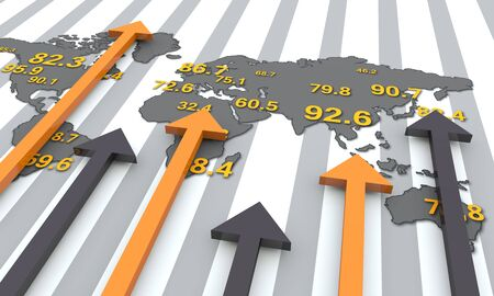 financial world: Financial and business chart and graphs