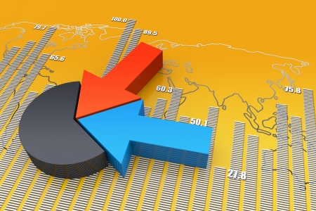 Financial and business chart and graphs