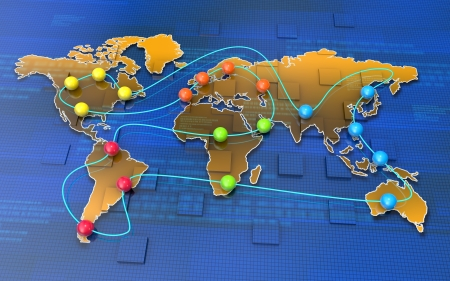 locating: Global business network