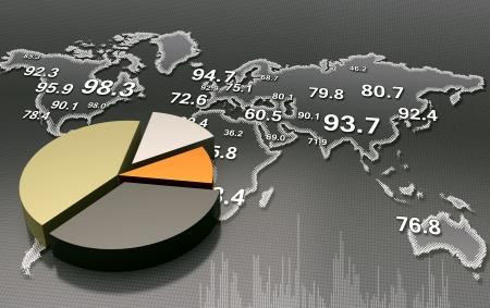 Financial business chart  Stock fotó