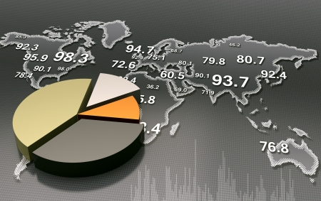 Financial business chart  photo