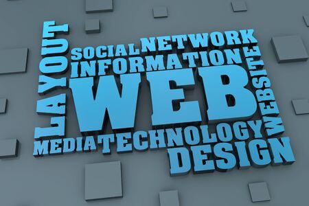 Concepto de dise�o web. Palabras relacionadas Foto de archivo - 19328723