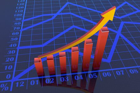 Business graph chart growth  photo