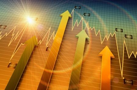 fondos negocios: Cuadro financiero y de negocios y gr?ficos Foto de archivo