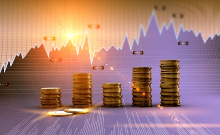financial planning: Financial and business chart and graphs