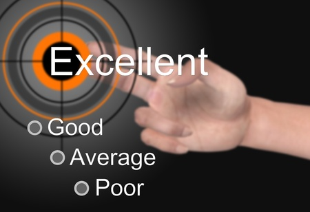 excellent customer service: Customer satisfaction survey as a background Stock Photo