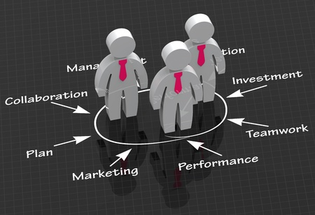 Strategic partnerships in business as a concept photo