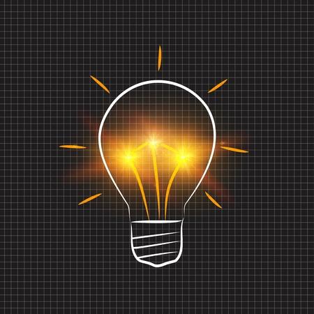 expansion: Light bulb as a idea concept
