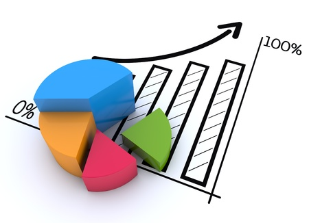 financial growth: Financial and business chart and graphs